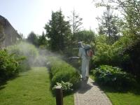 Обработка участка загородного дома